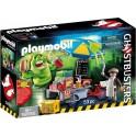 PLAYMOBIL 9222 Ghostbusters - Bouffe-Tout Avec Stand De Hot-Dog
