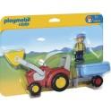 PLAYMOBIL 6964 1.2.3 - Fermier Avec Tracteur Et Remorque