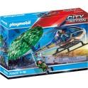 Playmobil 70569 - City Action - Hélicoptère de police et parachutiste