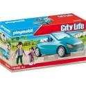 Playmobil 70285 - City Life - Papa avec enfant et voiture cabriolet