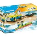 Playmobil 70436 - Family Fun - Voiture avec canoë