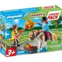 Playmobil 70505 - Country - Starter Pack Cavalière et palefrenier