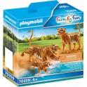 Playmobil 70359 - Family Fun - Couple de tigres avec bébé