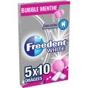 White Freedent Chewing-gum s/ sucres goût bubble menthe