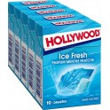 Hollywood Chewing-gum menthe fraîche s/sucres